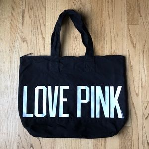 Love Pink Canvas Tote